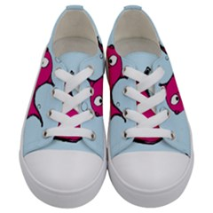 Fish Swarm Meeresbewohner Creature Kids  Low Top Canvas Sneakers