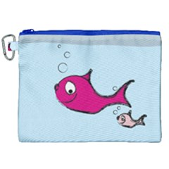 Fish Swarm Meeresbewohner Creature Canvas Cosmetic Bag (xxl)