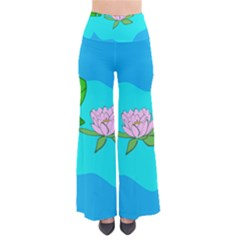 Frog Flower Lilypad Lily Pad Water Pants