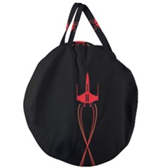 Ship Space Spaceship Giant Round Zipper Tote