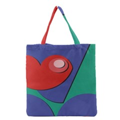 Clipart Portrait Illustration Grocery Tote Bag