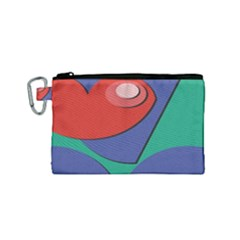 Clipart Portrait Illustration Canvas Cosmetic Bag (small)