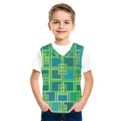 Green Abstract Geometric Kids  Sportswear