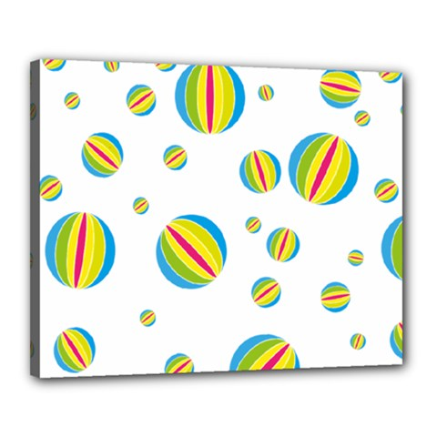 Balloon Ball District Colorful Canvas 20  X 16  by BangZart