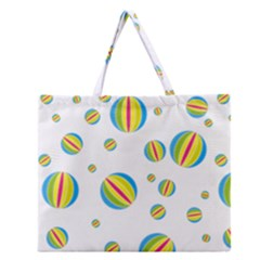 Balloon Ball District Colorful Zipper Large Tote Bag