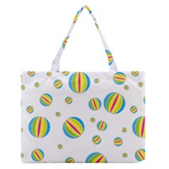 Balloon Ball District Colorful Zipper Medium Tote Bag