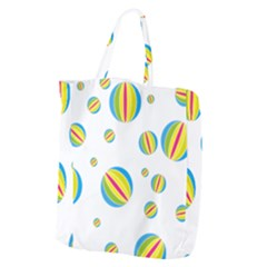 Balloon Ball District Colorful Giant Grocery Zipper Tote