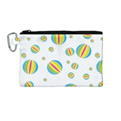 Balloon Ball District Colorful Canvas Cosmetic Bag (medium)