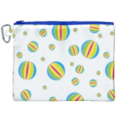 Balloon Ball District Colorful Canvas Cosmetic Bag (xxl)