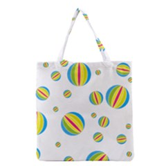 Balloon Ball District Colorful Grocery Tote Bag by BangZart