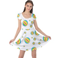 Balloon Ball District Colorful Cap Sleeve Dress