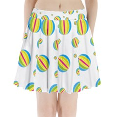 Balloon Ball District Colorful Pleated Mini Skirt