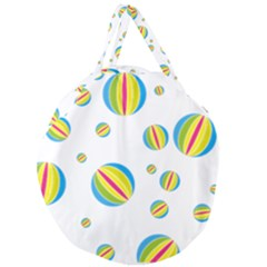 Balloon Ball District Colorful Giant Round Zipper Tote