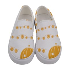 Pumpkin Halloween Deco Garland Women s Canvas Slip Ons