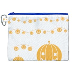 Pumpkin Halloween Deco Garland Canvas Cosmetic Bag (xxl)