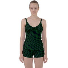 Pattern Dark Texture Background Tie Front Two Piece Tankini