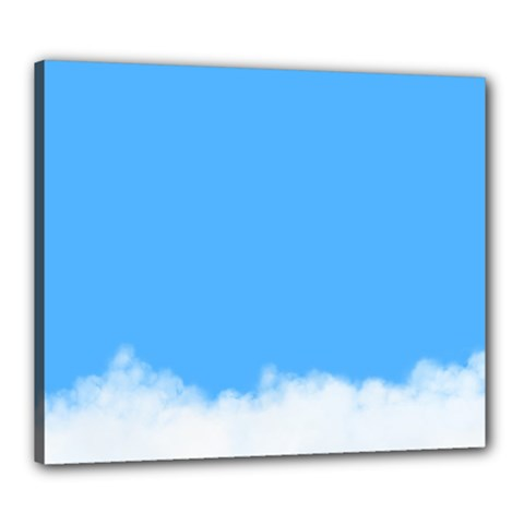 Sky Blue Blue Sky Clouds Day Canvas 24  X 20