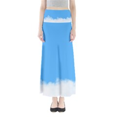 Sky Blue Blue Sky Clouds Day Full Length Maxi Skirt