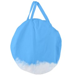 Sky Blue Blue Sky Clouds Day Giant Round Zipper Tote