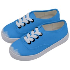 Sky Blue Blue Sky Clouds Day Kids  Classic Low Top Sneakers by BangZart