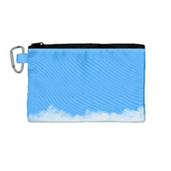 Sky Blue Blue Sky Clouds Day Canvas Cosmetic Bag (medium)