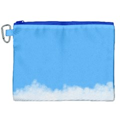 Sky Blue Blue Sky Clouds Day Canvas Cosmetic Bag (xxl)