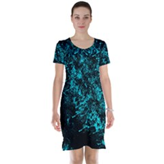 Blue Splash Short Sleeve Nightdress by berwies