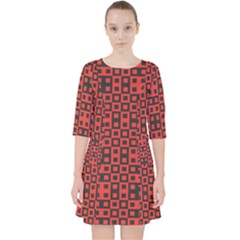 Abstract Background Red Black Pocket Dress