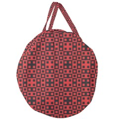 Abstract Background Red Black Giant Round Zipper Tote