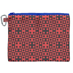 Abstract Background Red Black Canvas Cosmetic Bag (xxl)