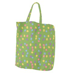 Balloon Grass Party Green Purple Giant Grocery Zipper Tote