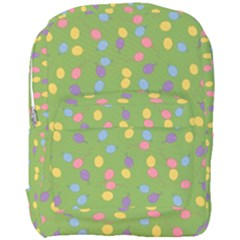 Balloon Grass Party Green Purple Full Print Backpack