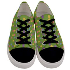 Balloon Grass Party Green Purple Men s Low Top Canvas Sneakers