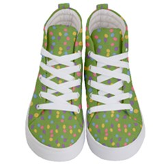 Balloon Grass Party Green Purple Kid s Hi Top Skate Sneakers