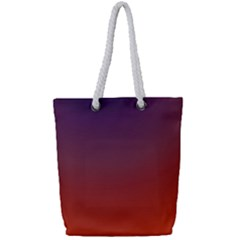 Course Colorful Pattern Abstract Full Print Rope Handle Tote (small)