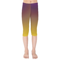 Course Colorful Pattern Abstract Kids  Capri Leggings