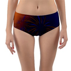 Sylvester New Year S Day Year Party Reversible Mid Waist Bikini Bottoms