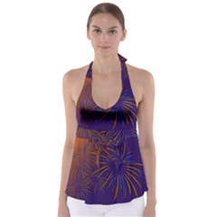 Sylvester New Year S Day Year Party Babydoll Tankini Top