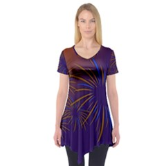 Sylvester New Year S Day Year Party Short Sleeve Tunic