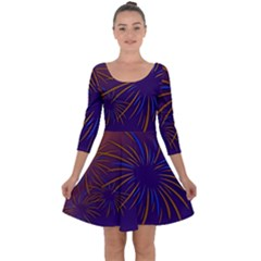 Sylvester New Year S Day Year Party Quarter Sleeve Skater Dress