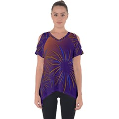 Sylvester New Year S Day Year Party Cut Out Side Drop Tee
