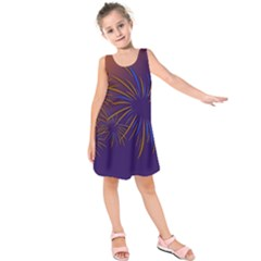Sylvester New Year S Day Year Party Kids  Sleeveless Dress