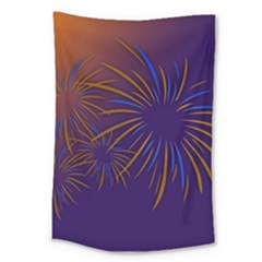 Sylvester New Year S Day Year Party Large Tapestry
