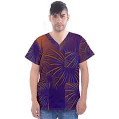 Sylvester New Year S Day Year Party Men s V Neck Scrub Top