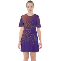 Sylvester New Year S Day Year Party Sixties Short Sleeve Mini Dress