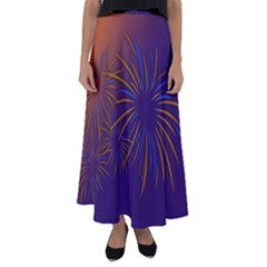 Sylvester New Year S Day Year Party Flared Maxi Skirt