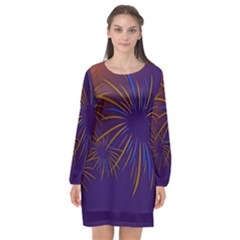 Sylvester New Year S Day Year Party Long Sleeve Chiffon Shift Dress