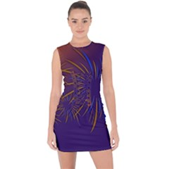 Sylvester New Year S Day Year Party Lace Up Front Bodycon Dress