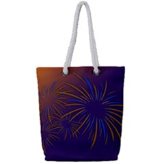 Sylvester New Year S Day Year Party Full Print Rope Handle Tote (small) by BangZart