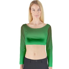 Course Colorful Pattern Abstract Long Sleeve Crop Top